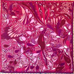 Hermès Millefleurs du Mexique Silk Twill Scarf